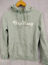 Womens Hoodie Primark Stay Say Size 10 Light Blue
