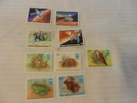 Lot of 9 Madagascar Stamps, 1976 Viking Space Mission, 1975 Okinawa Exposition