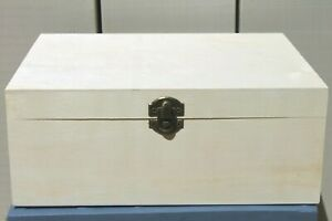 WOODEN CRAFT BOX STORAGE BOX DECOUPAGE LIDDED CRAFT BLANK BOX