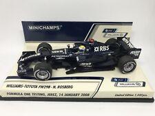 Minichamps F1 1/43 WILLIAMS-TOYOTA FW29B Jerez Test 2008 N. Rosberg Ltd Edition