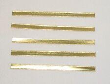 1000 Clipstreifen 80-180mm Beutelverschlüsse Bindestreifen gold