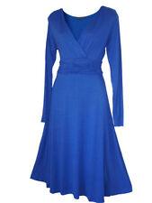 Vestiti da donna blu scollo a v , Taglia 40
