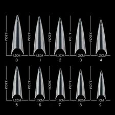 600pcs/box Long Ballerina False Nail Art Tips Clear Coffin Acrylic Accessory Kit
