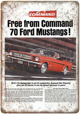 """1964 - Ford Mustand Command Hair Dressing Contest - 10"""" x 7"""" Retro Metal Sign"""