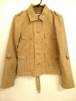 Women's Size Small Lucky Brand Pocket Button Up Khaki Utility Jacket