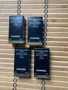 Chanel Perfection Lumiere Velvet Smooth Effect  Makeup 10, 22, 40, 50  new&boxed