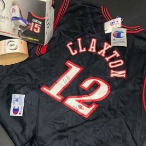 Vintage Signed Craig Claxton 76ers Champion Jersey New w/Tags #/250 XL 48