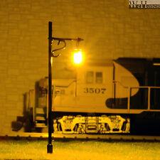 12 pcModèle Train Lampadaire HO maquette à LED éclairage Bâtiment Lumière #R34-7