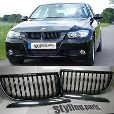 BMW E90 E91 3er 2005-09/2008  NIEREN GRILL KÜHLERGRILL IM SUPER CARBON LOOK