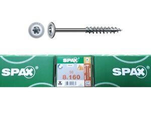 ABC Spax Tellerkopf Wirox T-Star plus 8 x 160 mm 10 St, 25 St, 50 St Teilgewinde