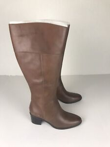 naturalizer Boots Tall Womens 8 M Brown Leather