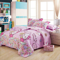 Hello Kitty Single/Double/Queen/King Size Quilt/Doona/Duvet Cover Set Pillows