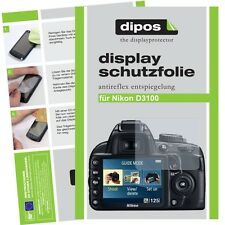 6x dipos Nikon D3100 Schutzfolie matt Displayschutzfolie Antireflex Testsieger