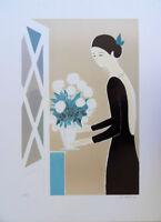 LASSUS Serge : le bouquet de fleurs - LITHOGRAPHIE originale signée #600ex
