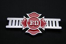 FIREFIGHTER FIRE DEPARTMENT 3D ABS CHROME FINISH DECAL LOGO EMBLEM FOR