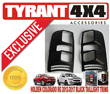 Holden Colorado RG 2012-2017 Black Taillights Cover Trims Tail Lights Taillamp