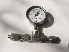 Ashcroft 1008 100 psi Lower-connect SS Pressure Gauge, Swagelok Fittings (#2)