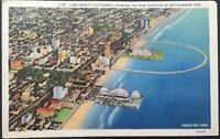 Vintage Postcard Rainbow Pier The New Auditorium Long Beach California D29