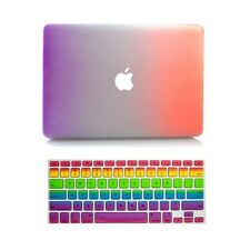 Hard Rubberized Case + Keyboard Cover for Mac Macbook Air 11 Pro 13 15 Retina 12