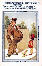POSTCARD  COMIC   FAT  MAN  Little  Girl   Little  Mary