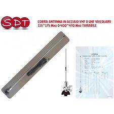 COBRA ANTENNE EN ACIER VHF OU UHF TRANSMETTRE 115~175 Mhz 400~470 RÉGLABLE