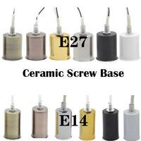 E14 E27 lamp socket Ceramic Screw Base for Light Buld Bulb Adaptor Holder Retro