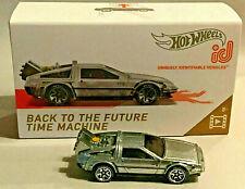 Hot Wheels ID RACING Delorean Time Machine Dream Car BACK TO THE FUTURE !! rlc
