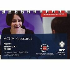 ACCA F6 Taxation FA2014: Passcards, Very Good Condition Book, BPP Learning Media