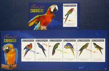 Grenada 2011 Papageien Parrots Vögel Birds Uccelli Oiseaux 6406-11 Block 804 MNH