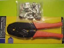 Crimp tool Crimper +10 x PL-259 UHF male crimp connector RG8U/RG213/Belden 8267
