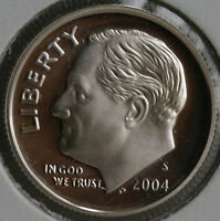 2004 S Silver Proof Roosevelt Dime Ten-Cent Coin 10c from US Mint Proof Set