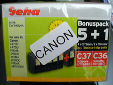 (PRL) LOTTO CARTUCCE INCHIOSTRO GEHA C36 C37 COMPATIBILE PER CANON INK CARTRIDGE