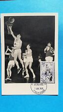 FRANCE CARTE MAXIMUM YVERT 1072 BASKETBALL 30F MULHOUSE 1956 L102