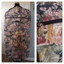 Floral Garment Bag Protocol Pink Navy Travel Bag