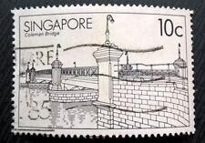 Singapore stamps - Coleman Bridge - 10 Singapore cents 1985