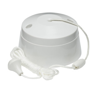 White Plastic Pull Cord Switch Ceiling Bathroom Utility10A 2Way Pull Cord Switch
