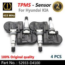 Set (4) OEM 52933-D4100 TPMS Tire Pressure Sensor For Hyundai KIA Genesis 16-18