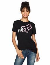 Fox Racing Reacted Womens Short Sleeve T-shirt Black MD