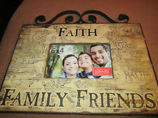 Rustic Faith Family Friends 6 x 4 Picture Frame with Iron Accent