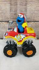 2002 Mattel Sesame Street Cookie Monster Press N Go Race Car