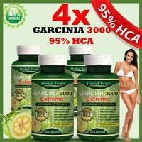 240 GARCINIA CAMBOGIA EXTRACT Capsules 3000mg Daily BEST Weight Loss Diet Pills