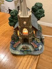 1999 Thomas Kinkade's Lamplight Village Collection ( Windermer Church ) with Coa