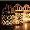 Retro Bird Cage Hollow Candle Holder Tea light Candlestick Hanging Lantern Decor