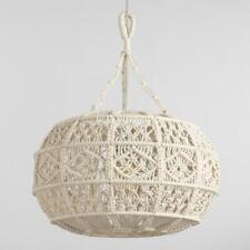 Boho Macrame Hanging Cottage Lamp Chandelier Pendant Bohemian Farmhouse Decor