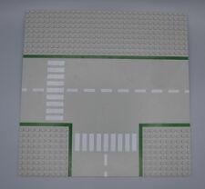 LEGO Platte 32x32 Strasse T Kreuzung ohne Fahrradweg althell grau 608p01