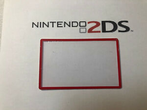 Nintendo 2DS Screen Cover LCD Lens Clear Part New Fit Great ! Red