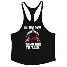 Men Cotton Gyms Vest Bodybuilding Undershirt Shirt Workout Sleeveless Tank Tops