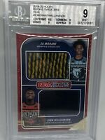 2019-20 Hoops Rookie Sweaters Dual Zion Williamson Ja Morant BGS 9 Mint