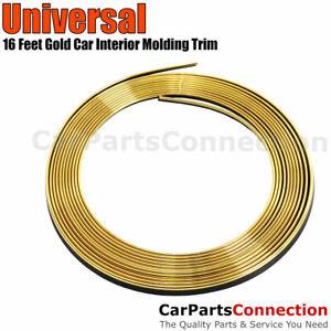 Gold 5M 16ft Car Door Panel Edge Gap Strip Moulding Trim Decoration Accessory