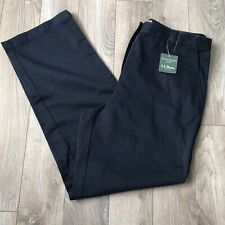 NWT L.L. Bean Women's Navy Blue Classic Fit Pants Size 12